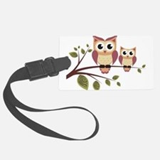 Duo of Owls Luggage Tag