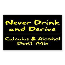 Drink and Derive Sticker Yellow (Rectangular)
