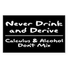 Drink and Derive Sticker White (Rectangular)