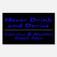 Drink and Derive Blue Rectangle Decal
