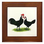 Whitefaced Spanish Chickens Framed Tile