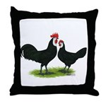 Whitefaced Spanish Chickens Throw Pillow