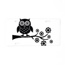 Black Owl Aluminum License Plate