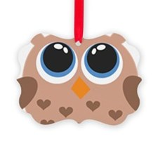 Brown Owl Family Ornament