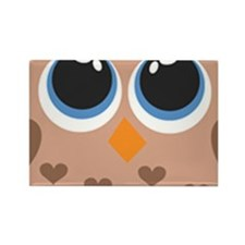 Brown Owl Family Magnets