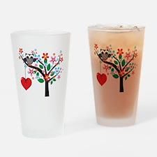 Spring Owl Drinking Glass