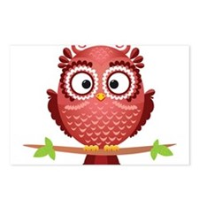 Coral Owl Postcards (Package of 8)