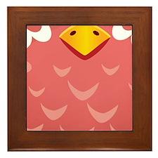 Coral Owl Framed Tile