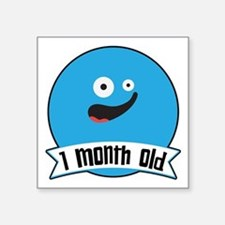 Monthly Silly Faces: 1 Month Old Sticker