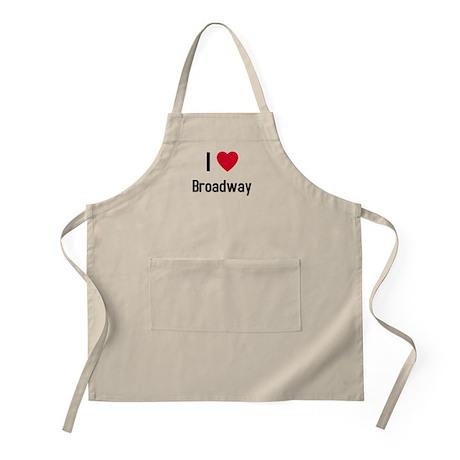 I love broadway BBQ Apron