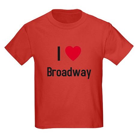 I love broadway Kids Dark T-Shirt