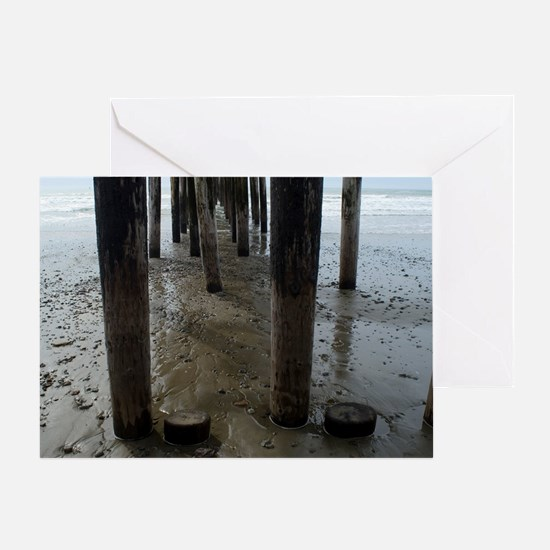 Wooden Legs Cayucos Pier Greeting Card