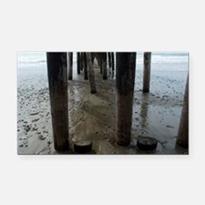 Wooden Legs Cayucos Pier Rectangle Car Magnet