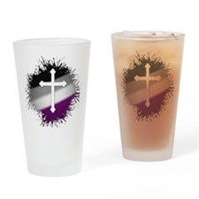 Christian Cross Asexual Drinking Glass