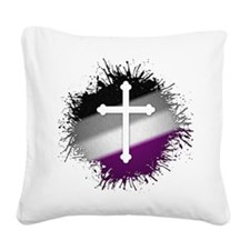 Christian Cross Asexual Square Canvas Pillow