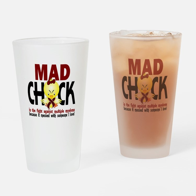 Multiple Myeloma Mad Chick 1 Drinking Glass