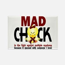 Multiple Myeloma Mad Chick 1 Rectangle Magnet