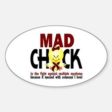 Multiple Myeloma Mad Chick 1 Decal