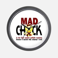 Multiple Myeloma Mad Chick 1 Wall Clock