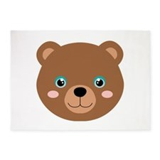 Cute Bear Cub 5'x7'Area Rug
