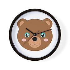 Cute Bear Cub Wall Clock