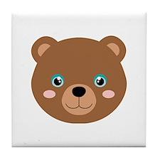 Cute Bear Cub Tile Coaster