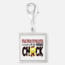 Multiple Myeloma Wrong Chick Silver Square Charm