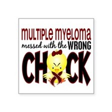 "Multiple Myeloma Wrong Chic Square Sticker 3"" x 3"""