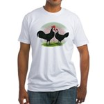 Whitefaced Spanish Chickens2 Fitted T-Shirt