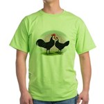 Whitefaced Spanish Chickens2 Green T-Shirt