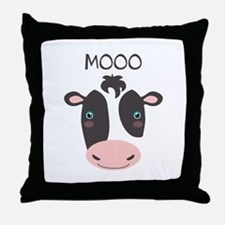 MOOO Throw Pillow