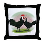 Whitefaced Spanish Chickens2 Throw Pillow