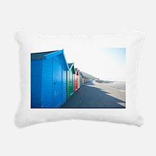 Brightly coloured beach  Rectangular Canvas Pillow