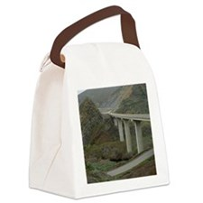 modern road bridge Canvas Lunch Bag