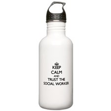 Keep Calm and Trust the Social Worker Water Bottle