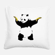 Bad Panda Square Canvas Pillow