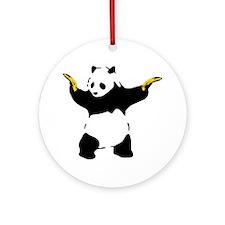 Bad Panda Round Ornament