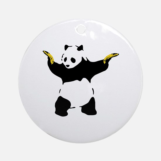 Bad Panda Round Ornament