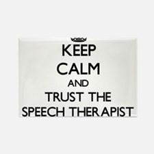 Keep Calm and Trust the Speech Therapist Magnets