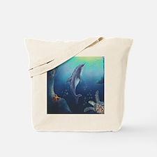 Hawaiian Dolphin Tote Bag