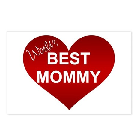 WORLD'S BEST MOMMY Postcards (Package of 8)