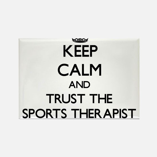 Keep Calm and Trust the Sports Therapist Magnets