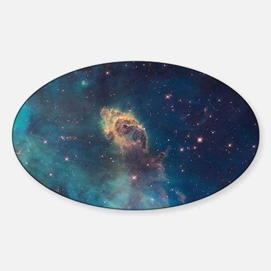 Stellar Jet in Carina Nebula Sticker (Oval)