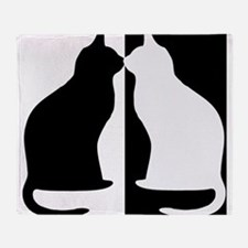 Black and white cats Throw Blanket
