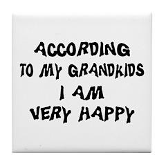 Funny Grandpa Tile Coaster