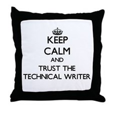 Keep Calm and Trust the Technical Writer Throw Pil