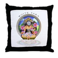 White Tara II Throw Pillow