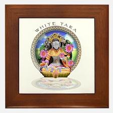 White Tara II Framed Tile