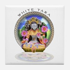 White Tara II Tile Coaster