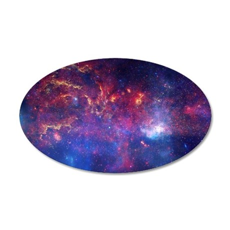 Galactic Center Region 20x12 Oval Wall Decal